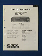 ONKYO TX-820 TUNER AMP SERVICE MANUAL ORIGINAL FACTORY ISSUE THE REAL THING