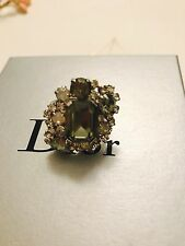 Authentic Christian Dior Swarovski Oversized Ring Sz6.5 $650+