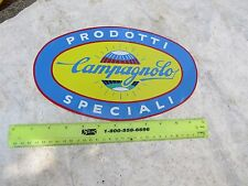 CAMPAGNOLO WINDOW STICKER LARGE OVAL DECAL ROAD RACING RARE VINTAGE TOOL