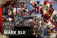 HOT TOYS MARVEL IRON MAN 3 MARK XLII 42 QUARTER SCALE 1:4 FIGURE ~Sealed~