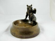 FRENCH BRONZE OF BEAR CLIMBING INTO BOWL C1890'S