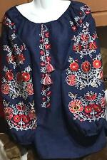 Ukrainian embroidery, embroidered blouse, linen, ANY COLOR, XS-4XL, Ukraine