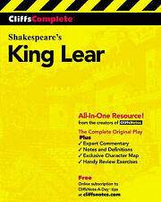 King Lear: Complete Study Edition by William Shakespeare (Paperback, 2000)