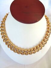 Unisex Shinny Rose Gold Plated Stainless Steel Large Cuban Link Necklace 18 ""