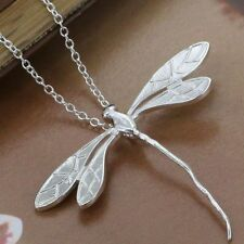 Silver Dragonfly Pendant Necklace and Chain