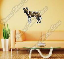 "African Wild Painted Dog Africa Wall Sticker Room Interior Decor 25""X20"""