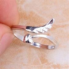 925 Sterling Silver Angel Wing Heart Arrow-Head Open Ring Size 5, 5.5, 6 H707