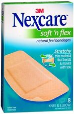 Nexcare Comfort Fabric Bandages Knee and Elbow 8 Each (Pack of 4)