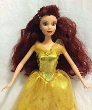Disney Princess Belle Barbie Doll Yellow and Gold Dress Beauty and the Beast