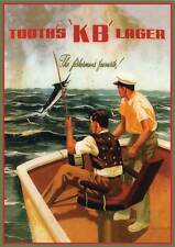 Reschs tooths Fishing print classic retro beer premium 250gsm satin poster