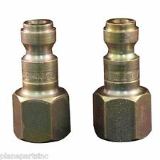"Milton 784 T style 1/4"" female air fitting 2pk"