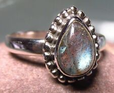 Sterling silver everyday labradorite ring UK M½/US 6.5