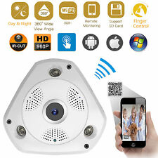 Panoramic VR IP WIFI Wireless 360 Degree 3D 1.3Mp HD Network CCTV Camera IR-Cut