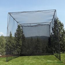 "10' X 10' X 10' Golf Cage Net + Golf Netting Impact Panel + 1"" Steel Frame NEW!"