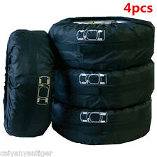 "Car 4 pcs Seasonal Protection Storage Tire Tote Carry Bag Fit 13""-19"" Universal"