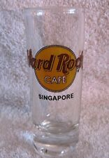BEAUTIFUL - LIKE-NEW - HARD ROCK CAFE - SINGAPORE - TALL SHOT GLASS - GREAT GIFT