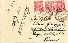 REGNO-Piroscafo Postale Italiano PRINCIPESSA MAFALDA-Cartolina con tre 10 cent