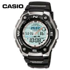Casio Men's Thermometer Fishing Data Moon Phase Divers Sports Watch AQW101-1A