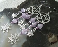 Pentacle Earrings, wiccan pagan wicca witch witchcraft pentagram goddess magic