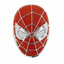 1928 Marvel Men's Spiderman Superhero Matte Red Mask Head Belt Buckle 13597