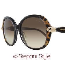 Roberto Cavalli Oval Sunglasses RC875S Keid 05F Black/Leopard/Gold 875