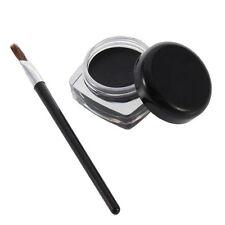 Black Waterproof Eye Liner Eyeliner Eye Shadow Gel Makeup Cosmetic + Brush GA