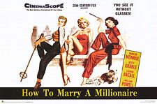 How To Marry A Millionaire Movie Poster Print fea. Marilyn Monroe, 23x35