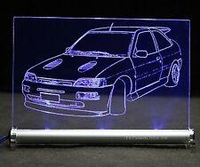 Ford Escort Cosworth mk5 als AutoGravur auf LED Schild