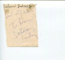 Salem Ludwig Camino Real An Enemy of the People Broadway Actor Signed Autograph