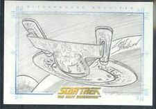 Quotable Star Trek TNG Sketch USS Enterprise-D v1 1:480