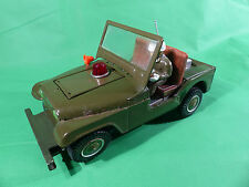 T.N. Normura Japan Willy US Jeep mit MG  - Tinpalte/Blech - 26cm