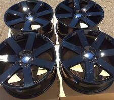 "SET OF FOUR 4 20"" x9"" WHEELS RIMS for CHRYSLER 300 300C 300S SRT-8 BLACK NEW RWD"
