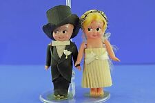 ANTIQUE CELLULOID KEWPIE TYPE GOOGLIE GOOGLY BRIDE AND GROOM