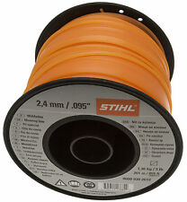 STIHL Stimmer Brushcutter Line Wire 2.4mm X 261M Orange Square 0000 930 2612