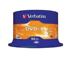 200 DVD -R VERBATIM VERGINI VUOTI 16X Advanced Azo dvdr 4.7 GB ORIGINALI
