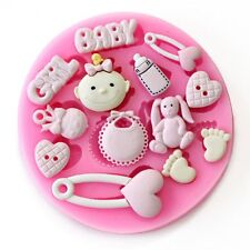 Baby Shower Cake Toppers Silicone Sugar Craft Mould Gum Paste Cake Fondant Molds