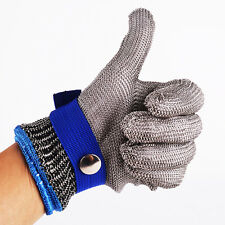 Safety Cut Proof Stab Resistant Stainless Steel Metal Mesh Butcher Glove size L