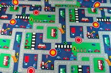 TAPIS DE JEU/D'ÉVEIL, RUE/AUTOS 0,5m POMPIERS rue EXCAVATRICE RETTUNG AUTO FEUX