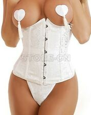 Women's Clothing Sexy New White Under bust Corset Bustier Shapewear XL SIZE