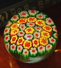 "MILLE FIORI CLOSE PACK PAPER WEIGHT ITALIAN? EXCELLENT PREOWNED CONDITION 2.75""W"