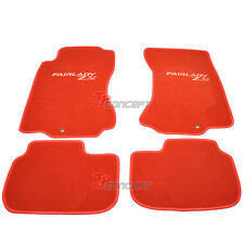 Fit 1990-1996 Nissan 300ZX Z32 Red Nylon Car Floor Mats Carpets 4pcs Front Rear