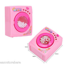 Kids Toy Washing Machine Simulation Home Appliance Role Play Pretend Games Pink