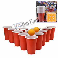 36pcs Beer Pong Set Luck Drinking Skill Game Cups Balls Party Pub Ping Pong Fun