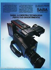AIRONE985-PUBBLICITA'/ADVERTISING-1985- SABA - VIDEO-MOVIE VHS-C