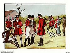 Fox Hunting Anthony Gruerio Print Art Deco Litho New Condition