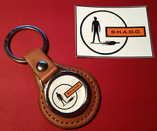 UFO - SHADO HIGH QUALITY LEATHER KEY RING & FREE  S.H.A.D.O.  STICKER