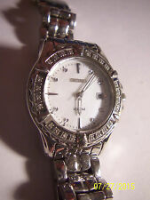 Ladies SEIKO Two Tone Stainless Steel w/ Diamonds Quartz Wrist watch. - REDUCED