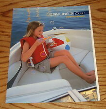 Original 2001 Bayliner Capri Sales Brochure 01 Cuddy Bowrider