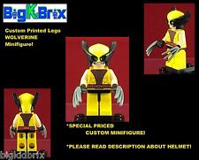 WOLVERINE Xmen Custom Printed LEGO Minifigure w/Custom Mask/Head *READ DESCRIPT