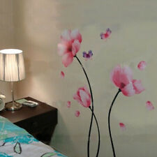 Romantic Pink Lily Removable Wall Sticker Unique DIY Wall Paper For Home Decor